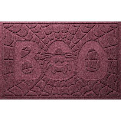 Aqua Shield Boo Spider Doormat Color: Bordeaux