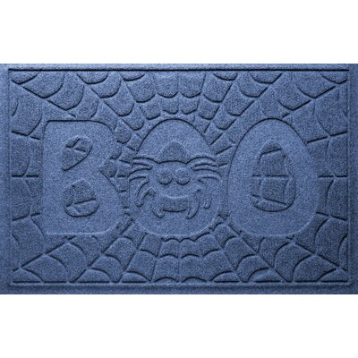 Aqua Shield Boo Spider Doormat Color: Navy