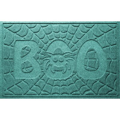 Aqua Shield Boo Spider Doormat Color: Aquamarine