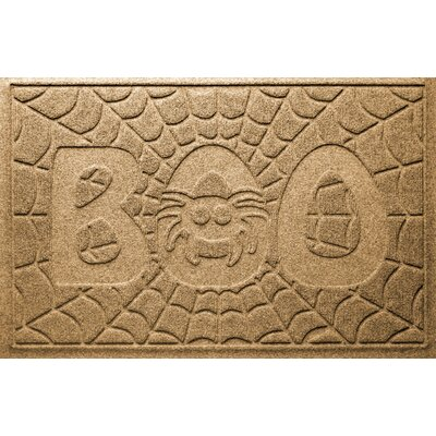 Aqua Shield Boo Spider Doormat Color: Gold
