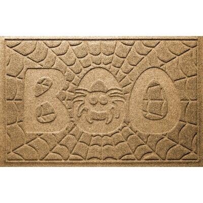Aqua Shield Boo Spider Doormat Color: Gold
