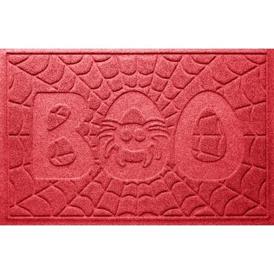 Aqua Shield Boo Spider Doormat Color: Solid Red