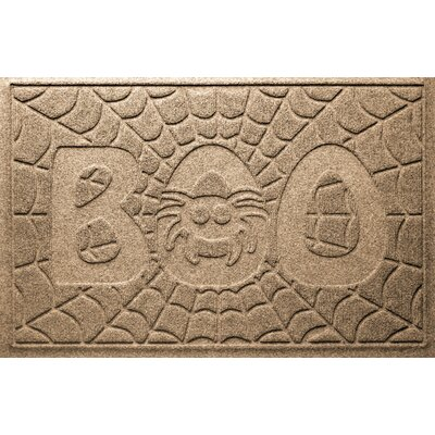 Aqua Shield Boo Spider Doormat Color: Camel