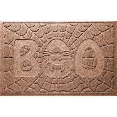 Aqua Shield Boo Spider Doormat Color: Medium Brown
