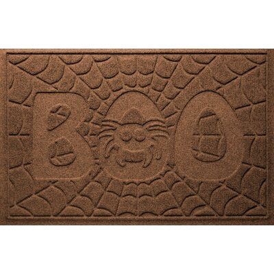 Aqua Shield Boo Spider Doormat Color: Dark Brown