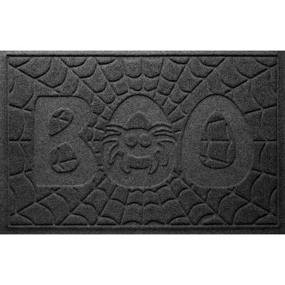 Aqua Shield Boo Spider Doormat Color: Charcoal