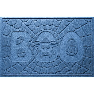 Aqua Shield Boo Spider Doormat Color: Medium Blue