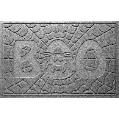 Aqua Shield Boo Spider Doormat Color: Medium Grey