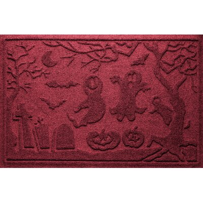 Aqua Shield Ghost Train Doormat Color: Red/Black
