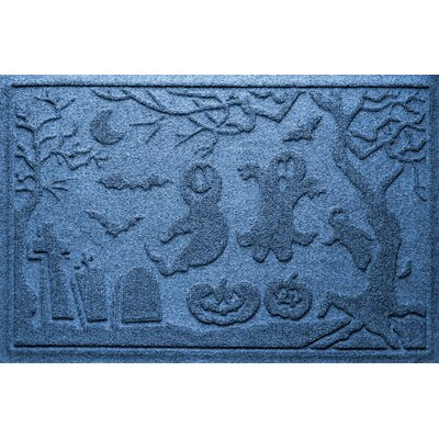 Aqua Shield Ghost Train Doormat Color: Medium Blue