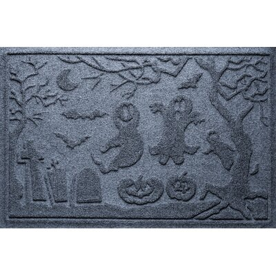 Aqua Shield Ghost Train Doormat Color: Bluestone