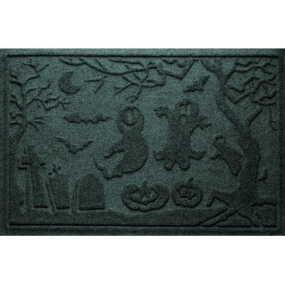 Aqua Shield Ghost Train Doormat Color: Evergreen