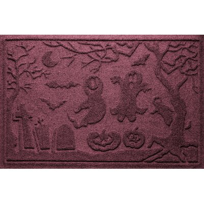 Aqua Shield Ghost Train Doormat Color: Bordeaux