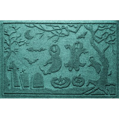 Aqua Shield Ghost Train Doormat Color: Aquamarine