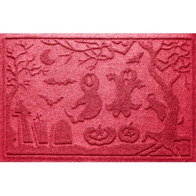 Aqua Shield Ghost Train Doormat Color: Solid Red