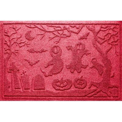 Aqua Shield Ghost Train Doormat Color: Solid Red