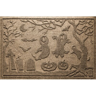 Aqua Shield Ghost Train Doormat Color: Camel