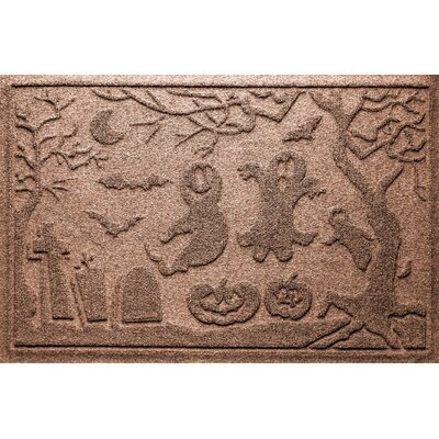 Aqua Shield Ghost Train Doormat Color: Medium Brown