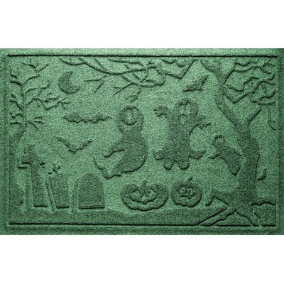 Aqua Shield Ghost Train Doormat Color: Light Green