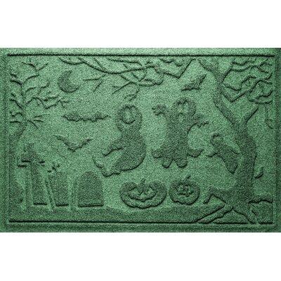 Aqua Shield Ghost Train Doormat Color: Light Green