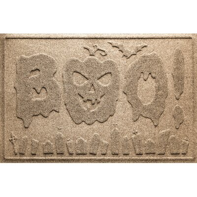 Aqua Shield Boo Graveyard Doormat Color: Camel