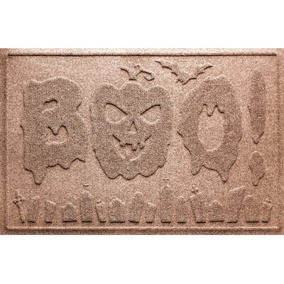 Aqua Shield Boo Graveyard Doormat Color: Medium Brown