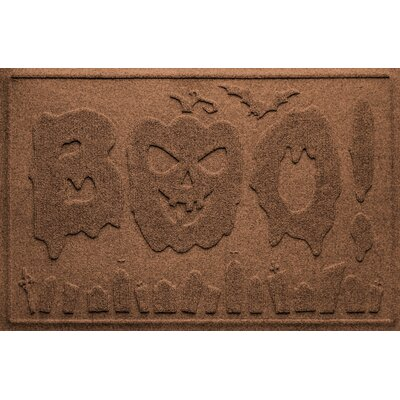 Aqua Shield Boo Graveyard Doormat Color: Dark Brown