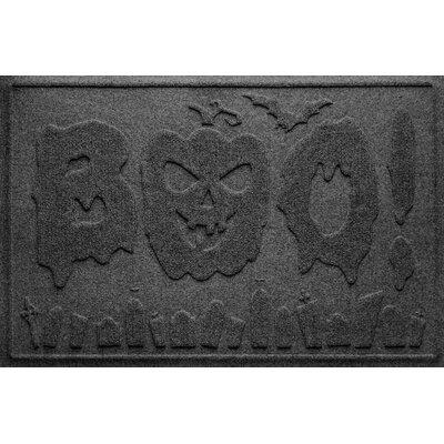 Aqua Shield Boo Graveyard Doormat Color: Charcoal