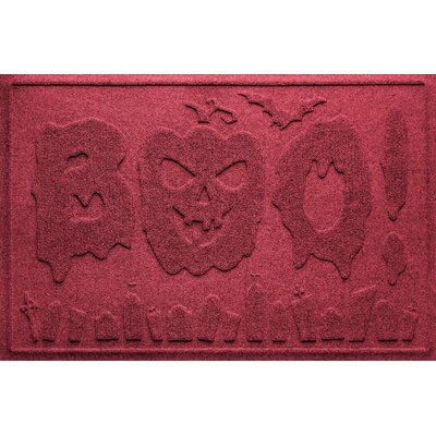 Aqua Shield Boo Graveyard Doormat Color: Red/Black