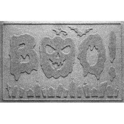 Aqua Shield Boo Graveyard Doormat Color: Medium Gray