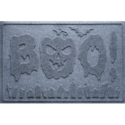 Aqua Shield Boo Graveyard Doormat Color: Bluestone