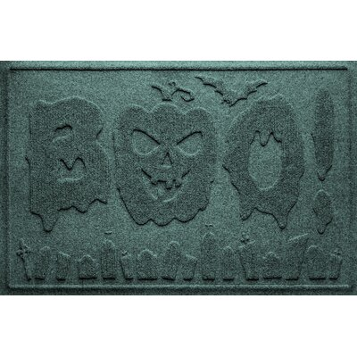 Aqua Shield Boo Graveyard Doormat Color: Evergreen