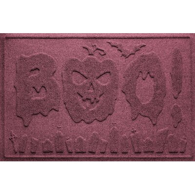 Aqua Shield Boo Graveyard Doormat Color: Bordeaux