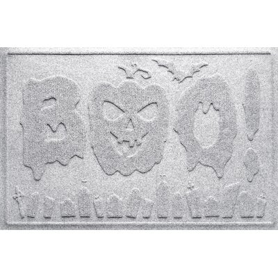 Aqua Shield Boo Graveyard Doormat Color: White