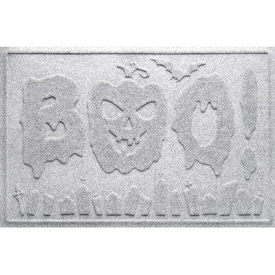 Aqua Shield Boo Graveyard Doormat Color: White