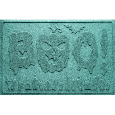 Aqua Shield Boo Graveyard Doormat Color: Aquamarine