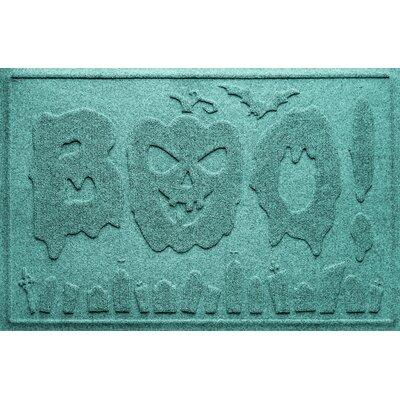 Aqua Shield Boo Graveyard Doormat Color: Aquamarine
