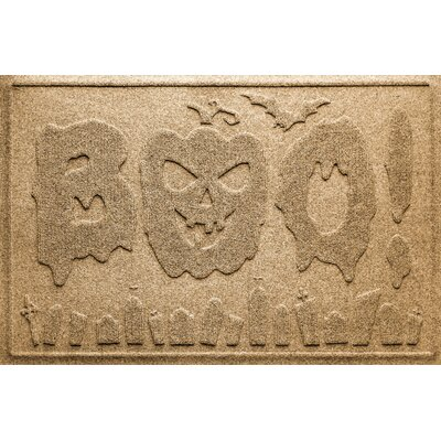 Aqua Shield Boo Graveyard Doormat Color: Gold