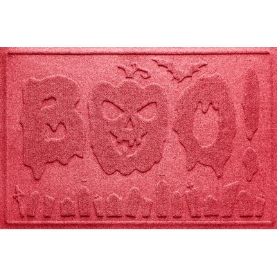 Aqua Shield Boo Graveyard Doormat Color: Solid Red