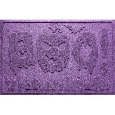 Aqua Shield Boo Graveyard Doormat Color: Purple