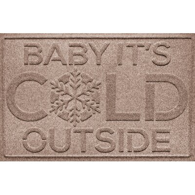 Aqua Shield Baby Its Cold Doormat Color: Medium Brown