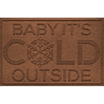 Aqua Shield Baby Its Cold Doormat Color: Dark Brown