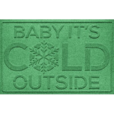 Aqua Shield Baby Its Cold Doormat Color: Light Green