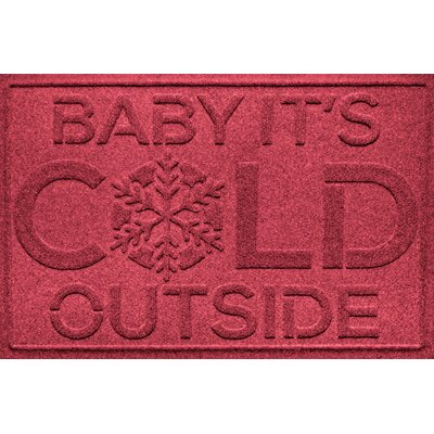 Aqua Shield Baby Its Cold Doormat Color: Red/Black