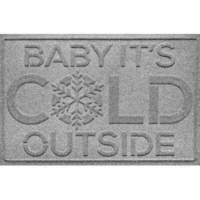 Aqua Shield Baby Its Cold Doormat Color: Medium Gray