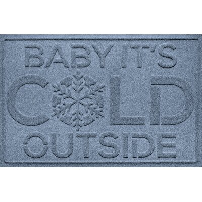 Aqua Shield Baby Its Cold Doormat Color: Bluestone