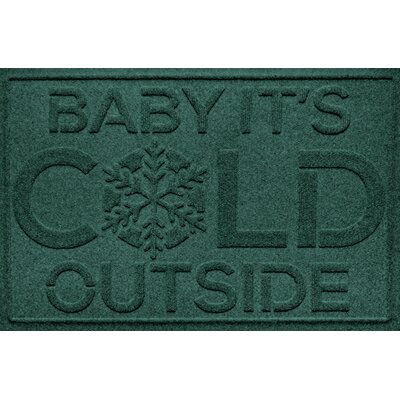 Aqua Shield Baby Its Cold Doormat Color: Evergreen