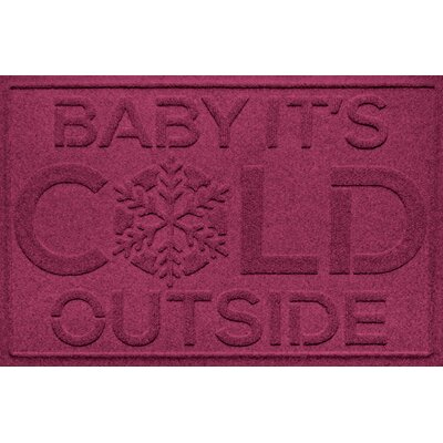 Aqua Shield Baby Its Cold Doormat Color: Bordeaux
