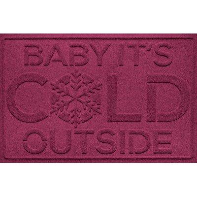 Aqua Shield Baby Its Cold Doormat Color: Bordeaux