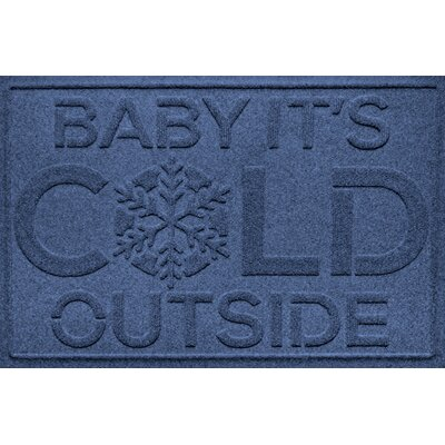 Aqua Shield Baby Its Cold Doormat Color: Navy